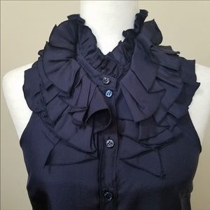 J Crew Navy Blue Kelsey Sleeveless Blouse